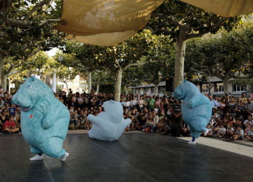 The performance 'Hippo' by the Lleida theater company Zum Zum Teatre on September 6 2018 (by Laura Alcalde)