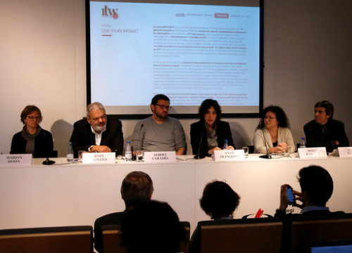 The presentation of the platform  'International Trial Watch - Catalan Referendum case' in Barcelona on December 17, 2018 (by Guifré Jordan)