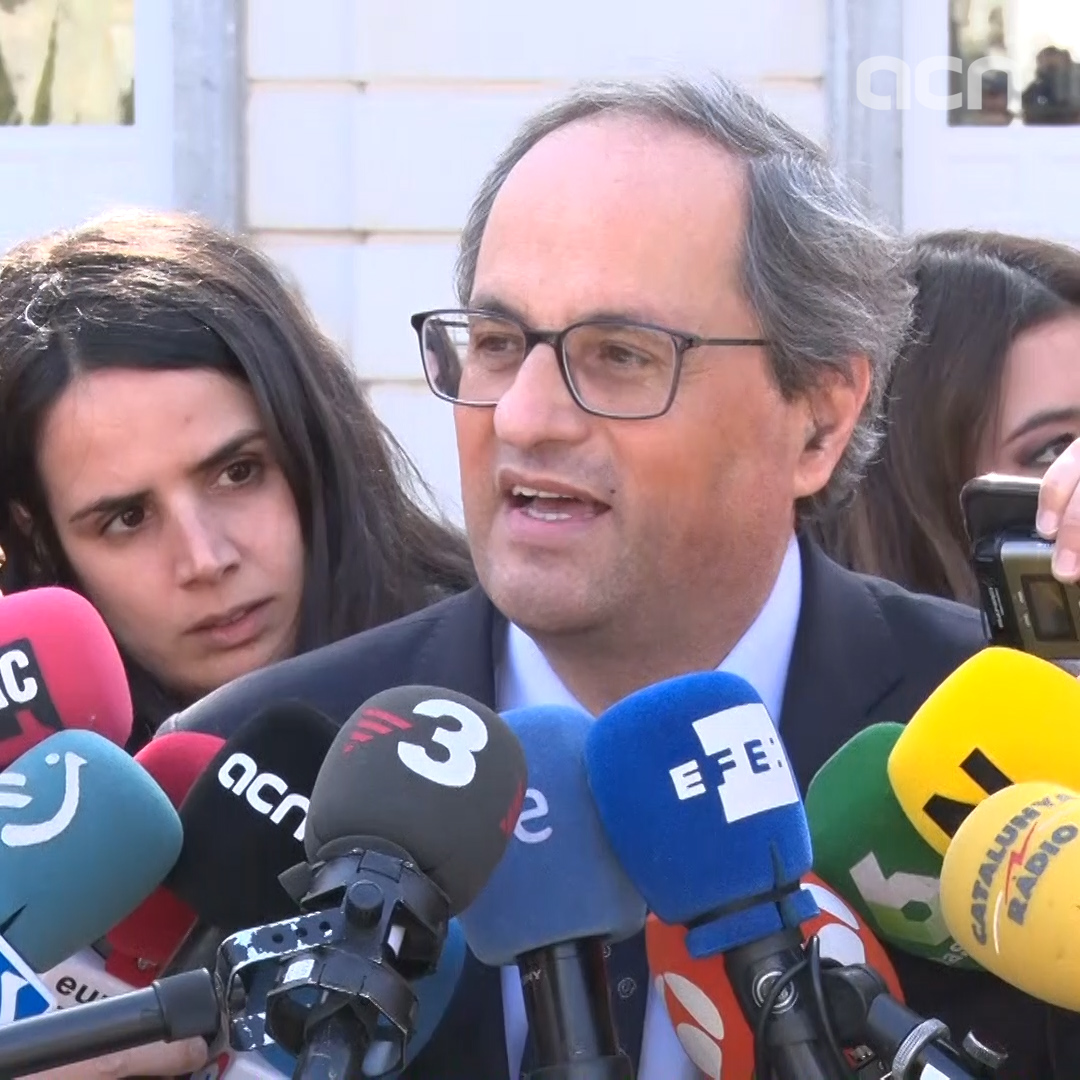 'Jordi Sànchez took apart one of the larger fake pieces of evidence' says Quim Torra, Catalan president