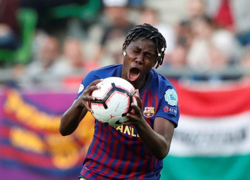 Women's Champions League Final - Ferencvaros Stadium, Budapest, Hungary - May 18, 2019 Barcelona's Asisat Oshoala reacts (Bernadett Szabo/Reuters)