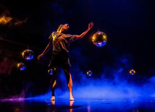Image of a rehearsal ahead of the premiere of 'Messi10 by Cirque du Soleil'