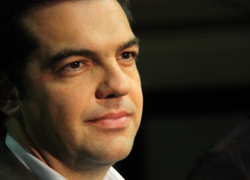 Alexis Tsipras participated in an ICV-EUiA rally in the last Catalan elections, held in November 2012 (by N. Julià)