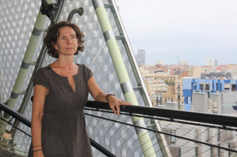 Ana Sofía Cardenal, Professor at the Open University of Catalonia (UOC) in the MediaTIC building (by Rebecca Lock)