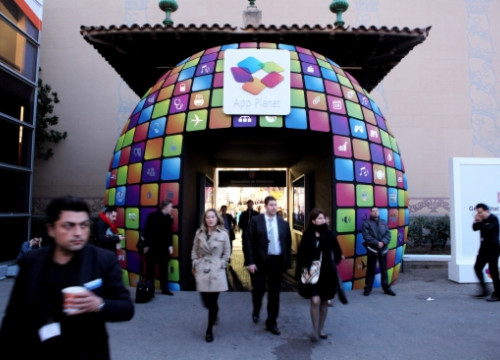The App Planet Pavillion's entrance, at the 2012 Mobile World Congress (by O. Campuzano)
