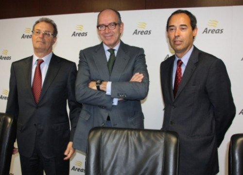 Áreas VP José Gabriel Martin, the company's President Pedro Fontana, and Áreas US Director Xavier Rabell (by E. Romagosa)