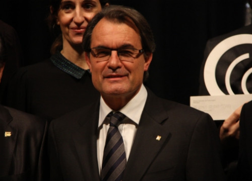 Artur Mas, President of the Catalan Government, on Thursday evening (by P. Francesch)