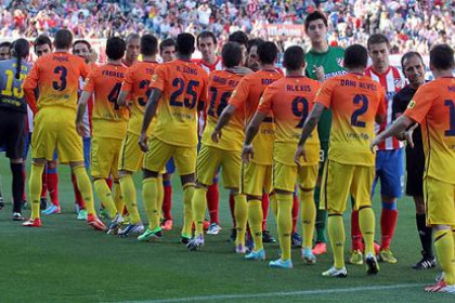 Atlético Madrid and FC Barcelona players (by FC Barcelona)
