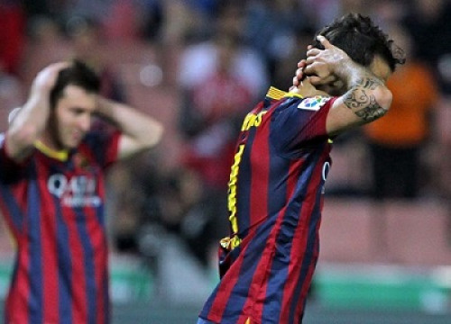 Barça players could not score any goal against Granada (by FC Barcelona)