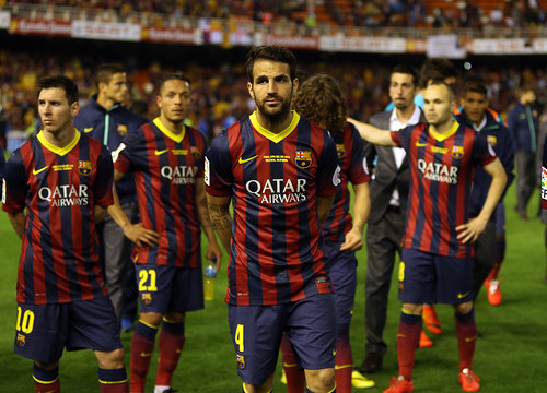 Barça players after the defeat against Real Madrid at Spain's Cup Final (by FC Barcelona)