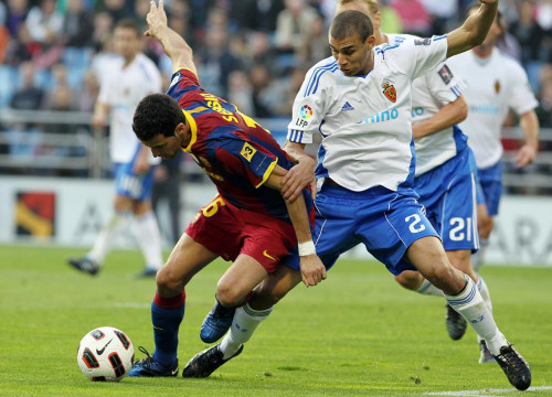 A moment from this season's previous game against Zaragoza (by FC Barcelona)