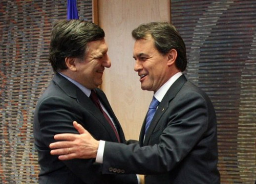The European Commission President, José Manuel Durao Barroso (left) and the Catalan President, Artur Mas (right) (by ACN)