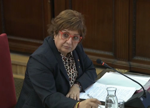 Former Catalan minister Dolors Bassa at Spain's Supreme Court