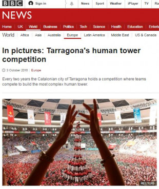 BBC website displayed a photo gallery of the Castellers Contest (by ACN)