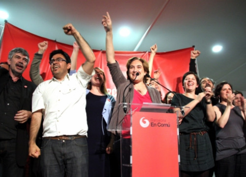Ada Colau in her first speech after the electoral results (by ACN)