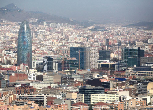An aerial view from Barcelona's 22@ technological district (by ACN)
