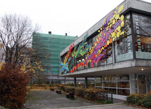 An external view from the Schiller library (by Neus Pérez)