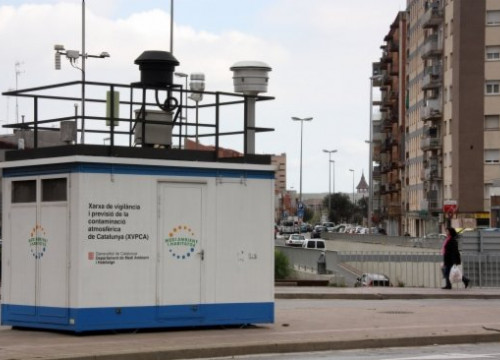 A station monitoring air pollution in Sabadell, in Barcelona's Metropolitan Area (by N. Vidal)