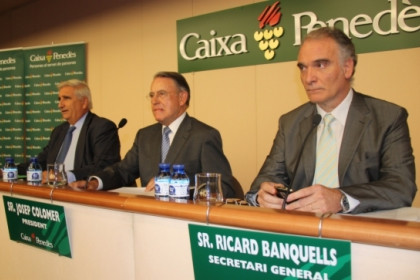The top executives of Caixa Penedès at the savings bank general assembly (by M Martí)