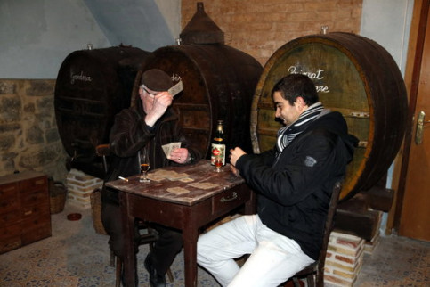 A wine cellar in the Gran Plaça square, in Calaf (by ACN)