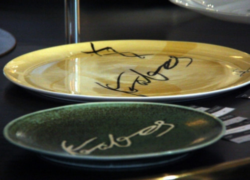 Some of Can Fabes' special plates (by P. Solà)