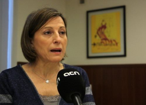 Carme Forcadell, President of ANC, interviewed by the CNA (by A. Moldes)