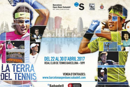Official poster of the 65th edition of the Barcelona Open Banc Sabadell Conde de Godó (by Barcelona Open Banc Sabadell)