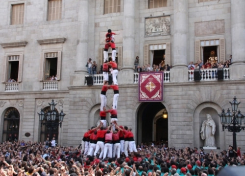 An example of the human castles in Barcelona (by ACN)