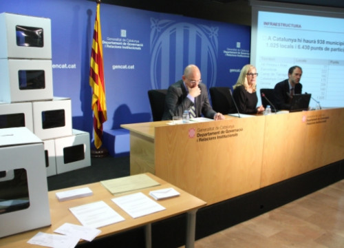 The Catalan Government presenting further details of November 9's alternative consultation vote (by ACN)