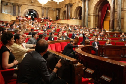 The Catalan Parliament voting on Thursday for the creation of the committe on the right to self-determination (by G. Soriano)