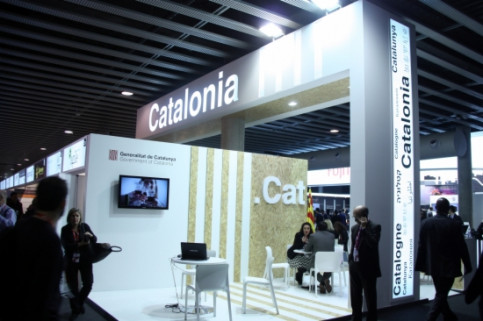 A stand grouping Catalan companies at the 2015 Mobile World Congress (by J. Morros)