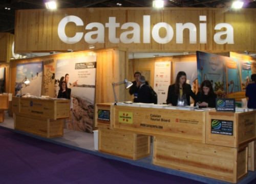 Catalonia's stand at London's 'World Travel Market' (by M. Sales)