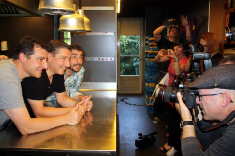 The Roca brothers in their restaurant in Girona on Tuesday morning (by ACN)