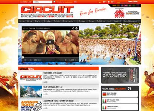 The website of the 'Circuit Festival', which takes place in Barcelona (by Circuit)