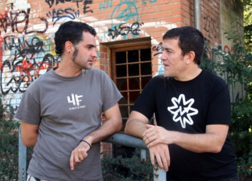 The two directors of 'Ciutat Morta': Xavier Artigas and Xapo Ortega (by P. Francesch)