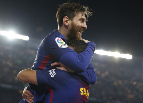 Messi and Luis Suárez scored the goals that maintain the Blaugranes' unbeaten league record (Miguel Ruiz/FCB)