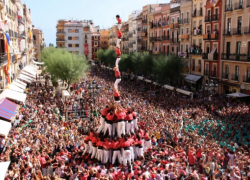 The Colla Vella dels Xiquets de Valls, which will participate in the initiative (by ACN)