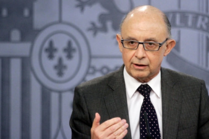 The Spanish Finance Minister, Cristóbal Montoro, in a recent press conference (by La Moncloa)