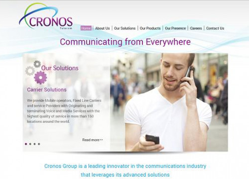 The website of Cronos Group (by ACN / Cronos Group)