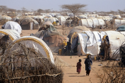 An image from Dadaab refugee camps where the two MSF workers have been kidnapped (by Jonathan Ernst / Reuters)