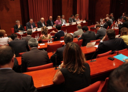 The hearing at the Catalan Parliament (by R. Garrido)