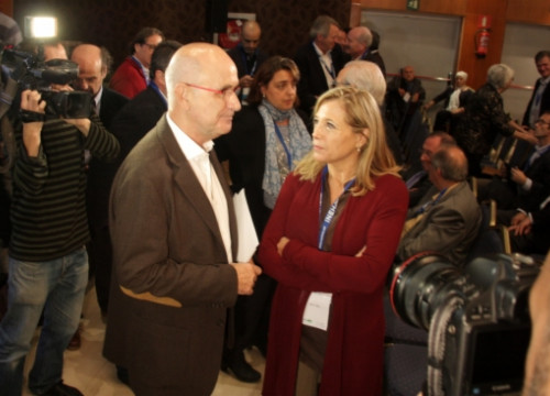 Josep Antoni Duran i Lleida next to the Catalan Vice President, Joana Ortega (by ACN)