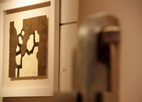 Works by Eduardo Chillida, on display in Barcelona (by P. Cortina)