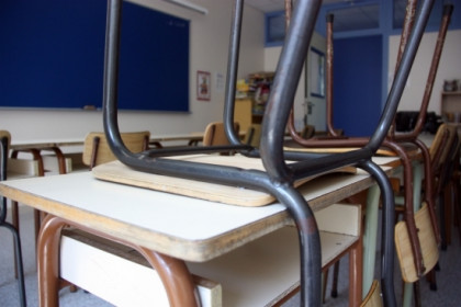 An empty classroom during summer holidays