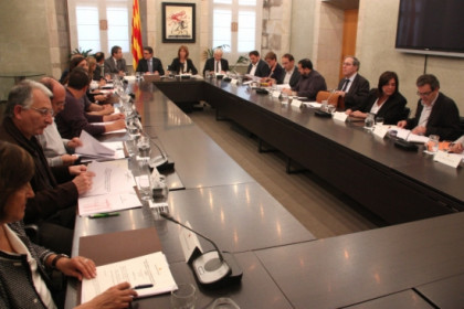 Catalonia's Education summit, taking place on Tuesday (by R. Garrido)