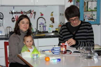 Elke, Marc, and their daughter, Matilda (by N. Pérez)