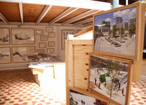 The exhibition about Catalan architect Enric Miralles' work (by V. Gumà)