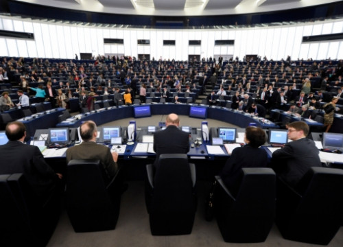 A European Parliament's plenary session in Strasbourg (by European Parliament)