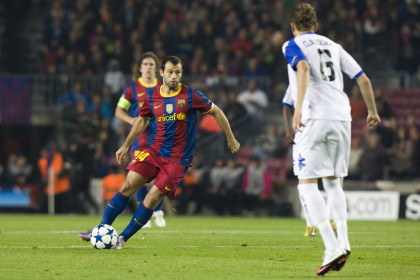 Mascherano during the last match (by FC Barcelona)
