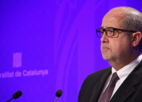 Catalan Business and Employment Minister, Felip Puig, on Tuesday (by R. Garrido)