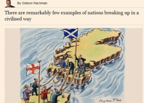 A caption from the Financial Times' website with Gideon Rachman's article (by The Financial Times)